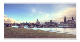 Premium poster Dresden, as viewed by Canaletto earlier