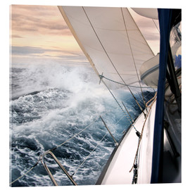 Acrylglas print  Sailing through the storm - Jan Schuler