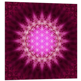 PVC print  Flower of life - symbol harmony and balance - red - Lava Lova