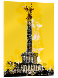 Acrylglas print  Berlin Victory Column (on Yellow) - JASMIN!