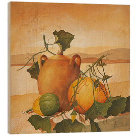Hout print  Pumpkins and terracotta - Franz Heigl