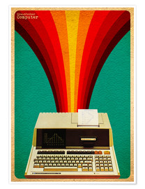 Premium poster Grandfather computer