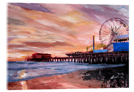 Acrylglas print  Santa Monica Pier at Sunset - M. Bleichner