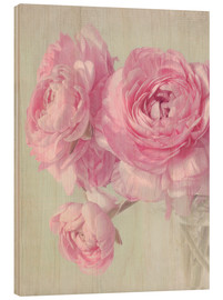Hout print  pink spring - Lizzy Pe