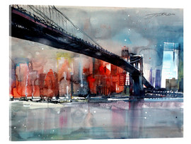 Acrylglas print  New York, Brooklyn Bridge IV - Johann Pickl