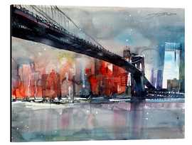 Aluminium print  New York, Brooklyn Bridge IV - Johann Pickl