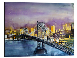 Aluminium print  New York, Manhattan Bridge - Johann Pickl