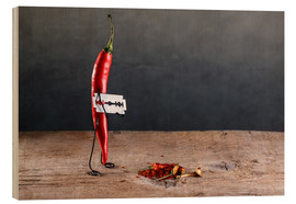 Hout print  Simple Things - Chili Pepper - Nailia Schwarz