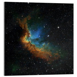 Acrylglas print  NGC 7380 in the Hubble palette colors - Rolf Geissinger