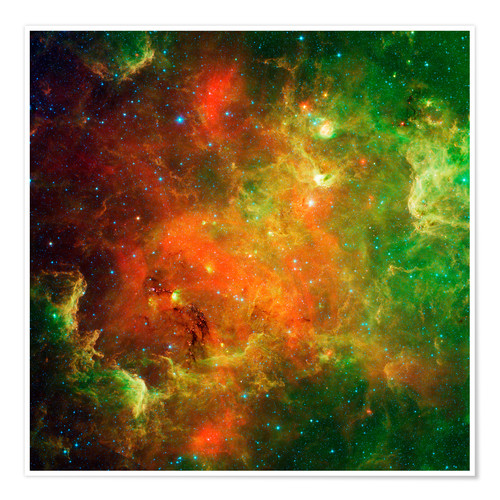 Premium poster Clusters of young stars