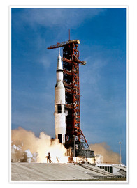 Premium poster  Apollo 11 taking off from Kennedy Space Center - Stocktrek Images