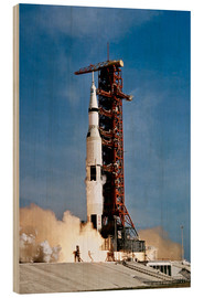 Hout print  Apollo 11 taking off from Kennedy Space Center - Stocktrek Images
