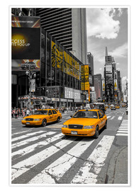 Premium poster Gele taxi's op Time Square 2