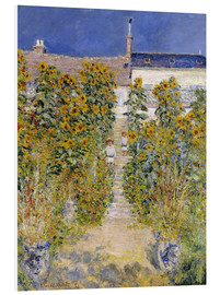 PVC print  The Artist's Garden at Vetheuil - Claude Monet