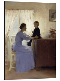 Aluminium print  Mother and Child - Peter Vilhelm Ilsted