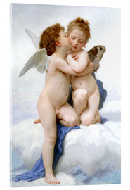 Acrylglas print  The first kiss - William Adolphe Bouguereau