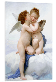 PVC print  The first kiss - William Adolphe Bouguereau
