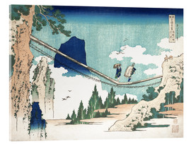 Acrylglas print  Minister Toru, from the series Poems of China and Japan - Katsushika Hokusai