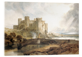 Acrylglas print  Conway Castle, c.1802 - Joseph Mallord William Turner