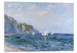 PVC print  Rocks and sailing boats in Pourville - Claude Monet