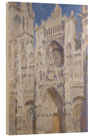 Hout print  Cathedral afternoon - Claude Monet