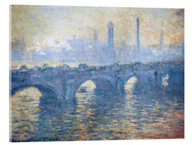 Acrylglas print  River Thames in London, Waterloo Bridge - Claude Monet