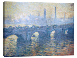 Canvas print  River Thames in London, Waterloo Bridge - Claude Monet