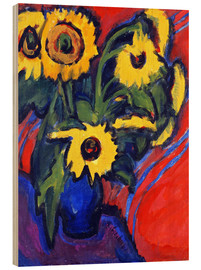 Hout print  Sunflowers - Ernst Ludwig Kirchner