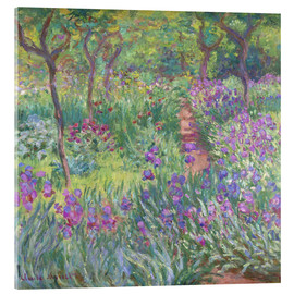 Acrylglas print  The Iris Garden At Giverny - Claude Monet