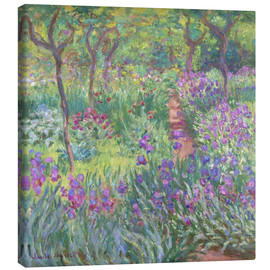 Canvas print  The Iris Garden At Giverny - Claude Monet
