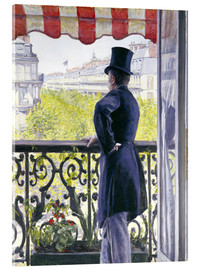 Acrylglas print  Man on a balcony - Gustave Caillebotte