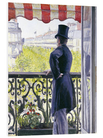 PVC print  Man on a balcony - Gustave Caillebotte