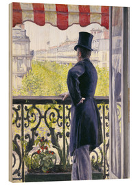 Hout print  Man on a balcony - Gustave Caillebotte