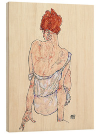Hout print  Female back - Egon Schiele