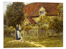 PVC print  Mother and child on lodge - Helen Allingham