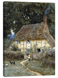 Canvas print  On the Brook Road, near Witley - Helen Allingham