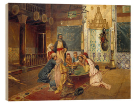 Hout print  An Eastern Meal - Rudolph Ernst