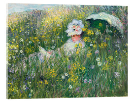 Acrylglas print  In the Meadow - Claude Monet