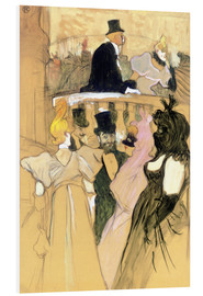 PVC print  At the Opera Ball - Henri de Toulouse-Lautrec