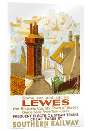 Acrylglas print  Come see and admire Lewes - Gregory Brown
