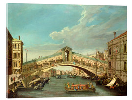 Acrylglas print  Grand Canal and the Rialto Bridge - Antonio Canaletto