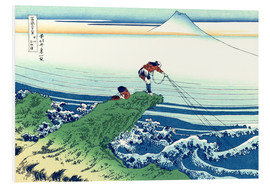 PVC print  A fisherman stands on a rock on Kajikazawa in Kai Province - Katsushika Hokusai