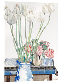 Acrylglas print  White tulips - Charles Rennie Mackintosh