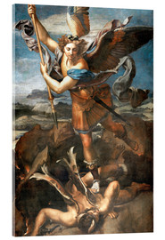 Acrylglas print  St.Michael kills the demon - Raffael