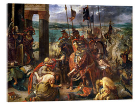 Acrylglas print  The conquest of Constantinople by the crusaders - Eugene Delacroix