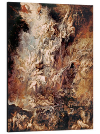 Aluminium print  The Descent into Hell of the Damned - Peter Paul Rubens