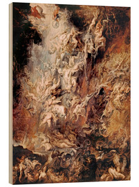 Hout print  The Descent into Hell of the Damned - Peter Paul Rubens