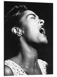Aluminium print  Billie Holiday