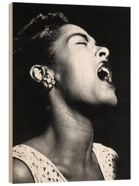 Hout print  Billie Holiday