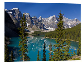 Acrylglas print  Lake in front of the Canadian Rockies - Paul Thompson